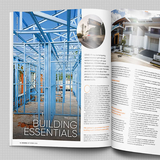 Dincel has recently featured in the September edition of HOUSING Magazine in their Building Essentials article.